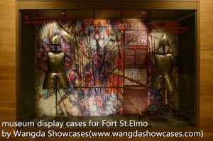 museum display cases-recessed wall case